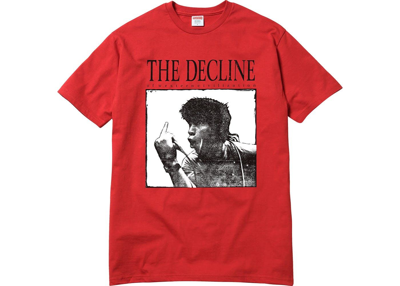 画像1: SUPREME DECLINE OF WESTERN CIVILIZATION TEE | シュプリーム デックライン オブ ウエスタン シビライゼーション Tシャツ (1)