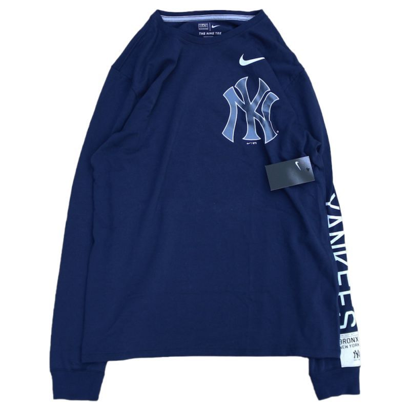 画像1: NIKE X NEW YORK YANKEES L/S TEE | ナイキ X ニューヨーク ヤンキース ロング スリーブ Tシャツ (1)